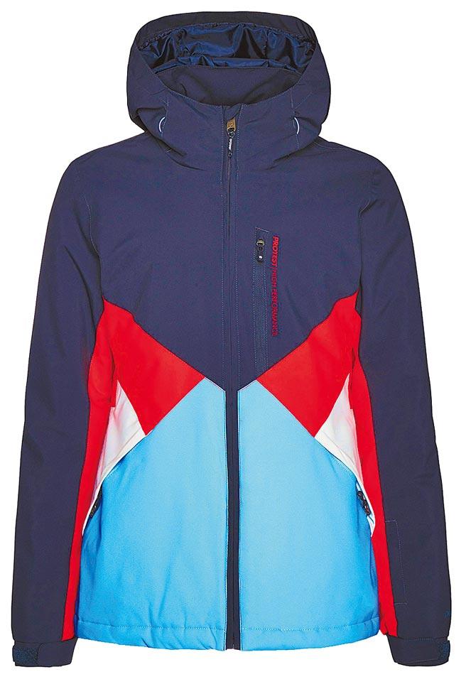 Global Mall板橋車站店的PROTEST拚接機能保暖外套,原價5580元,優惠價2980元。(Global Mall提供)