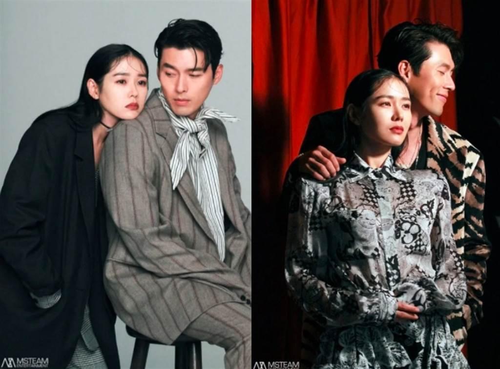 玄彬和孫藝真在合作電影《協商》,拍攝宣傳照就有許多甜蜜互動。(圖/ 摘自電影《協商》宣傳照)
