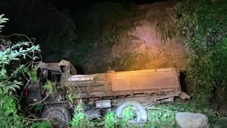 上山工作失蹤2日 男駕車自墜10米山谷卡車內身亡