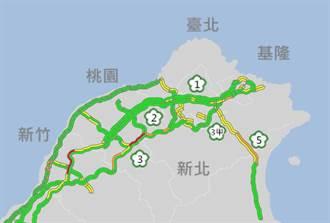 連假第2天國道白天順暢 下午9路段防北返車潮