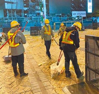 跨年垃圾驟減 台北加強周邊消毒