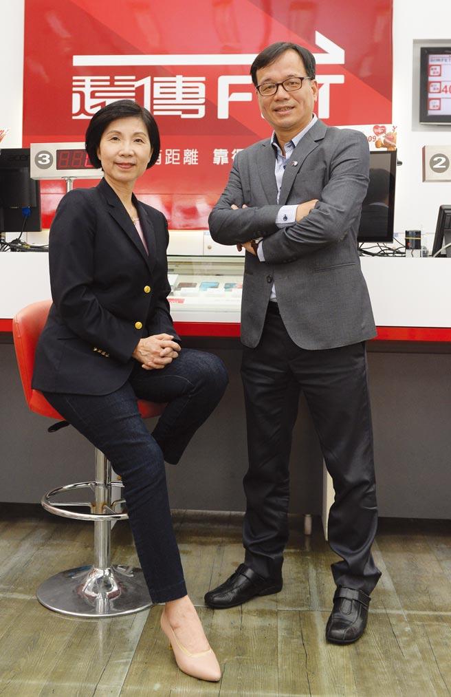 遠傳電信總經理井琪(左)及全通路管理事業群執行副總經理鄭智衡(右)表示「將心比心,服務做到位」是遠傳最重要的服務準則。圖/王德為