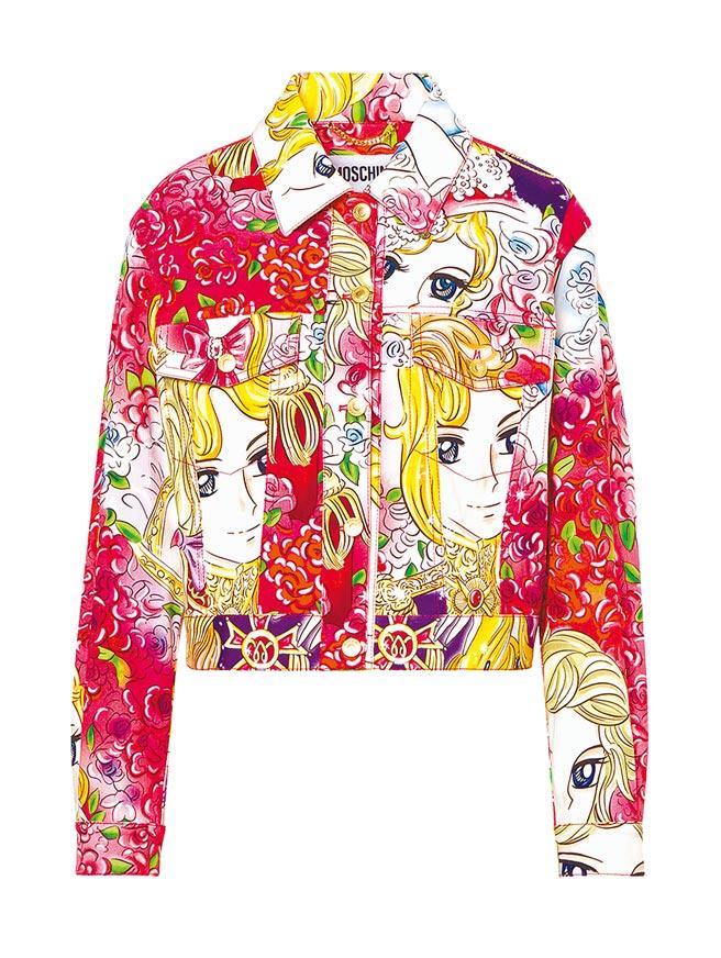 Moschino將兒時記憶的凡爾賽玫瑰再度帶回世人眼前。凡爾賽玫瑰外套,4萬2800元。(Moschino提供)