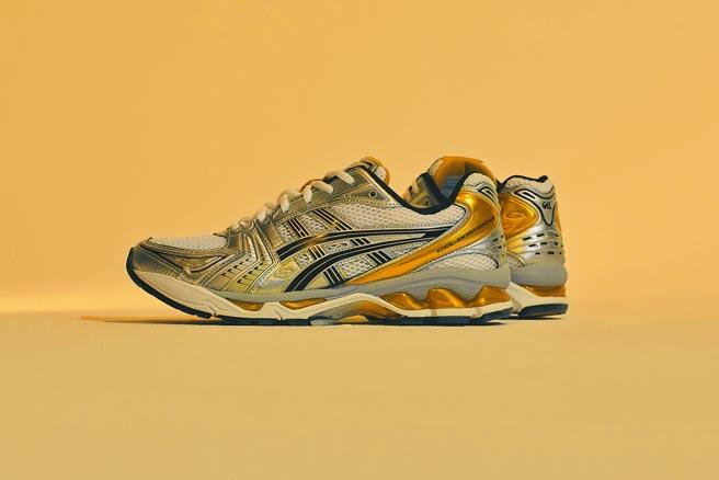 ASICS GEL-KAYANO 14鞋款,復刻千禧年復古美學,4580元。(ASICS提供)