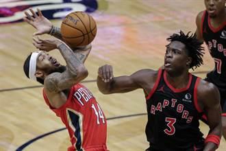NBA》英格拉姆關鍵罰球 鵜鶘送暴龍第4敗