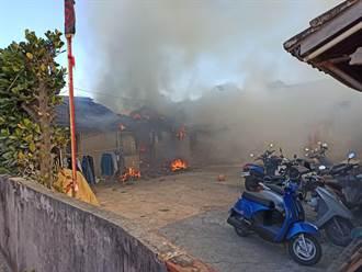 元旦連假最後一天 苑裡三合院大火燒成灰燼無人傷