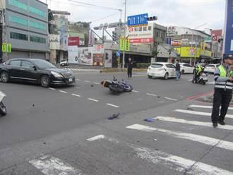 汽車左轉未禮讓直行車 重機情侶1死1傷