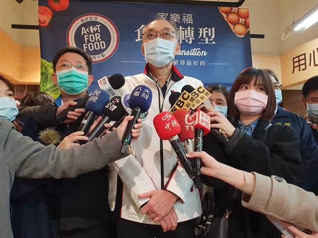 新北市副市長謝政達今(3日)強調,標示萊豬、非萊豬,與中央並沒有牴觸。(葉書宏攝)