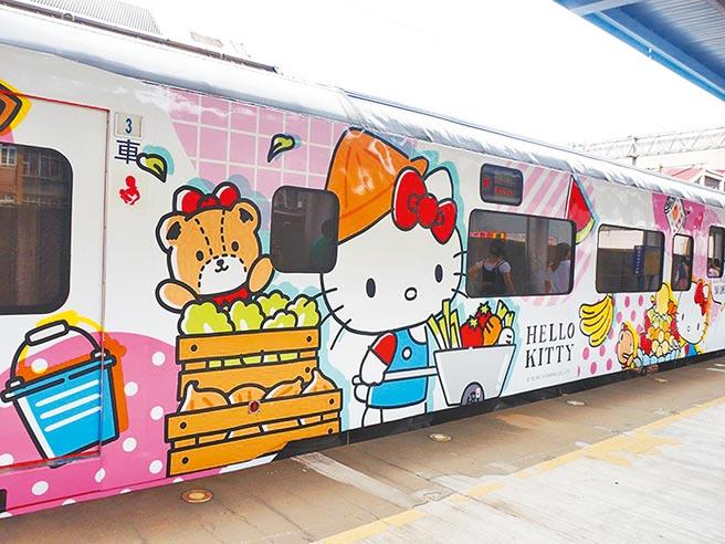 易遊網獨賣的「環島之星Hello Kitty彩繪列車」,在春節推出超過百條行程。(易遊網提供)