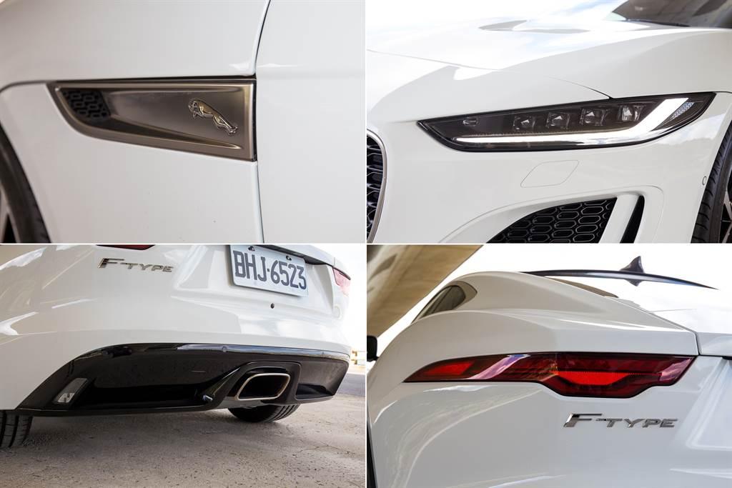 除車頭之外,其餘變動多在細節處有著小變化,例如車側進氣口上加入了經典的躍豹Logo。