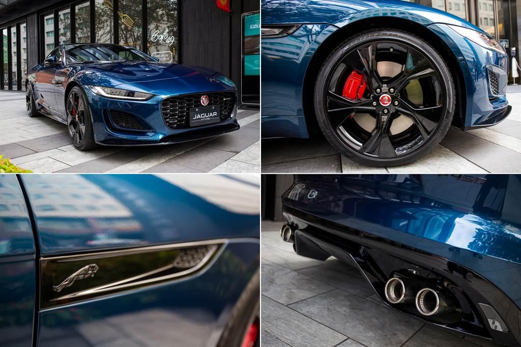 原廠亦展出一輛具黑色外觀設計套件的P450 R-Dynamic車型。
