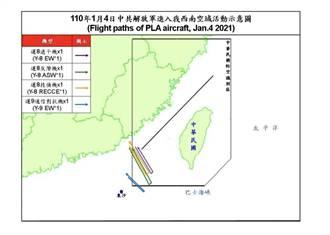 空軍證實4架共機進台灣西南空域 3架運8、1架運9