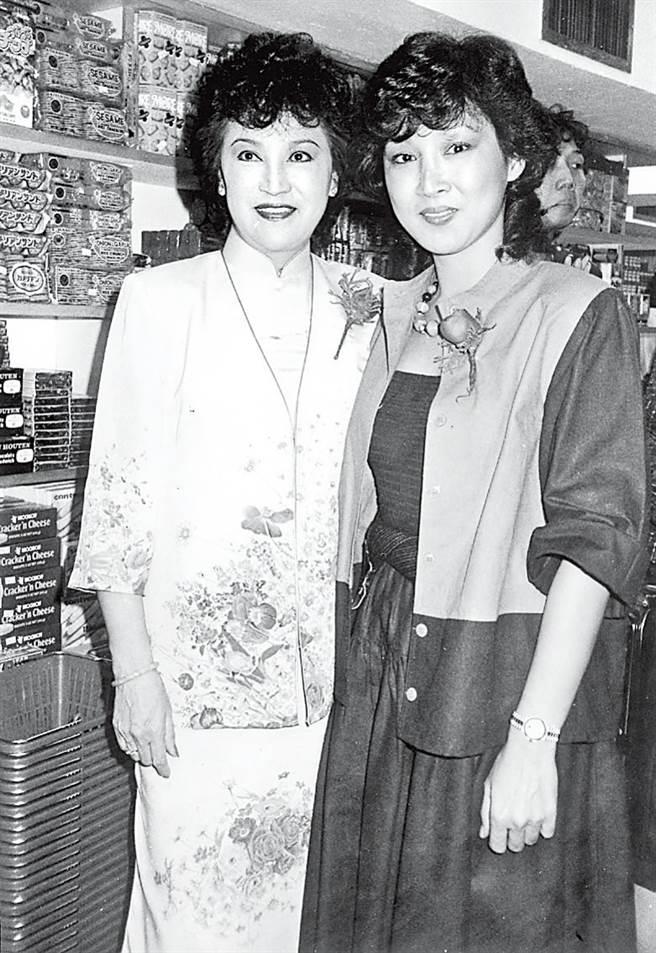 李香琴與女兒蕭紫筠。(圖/翻攝東網)