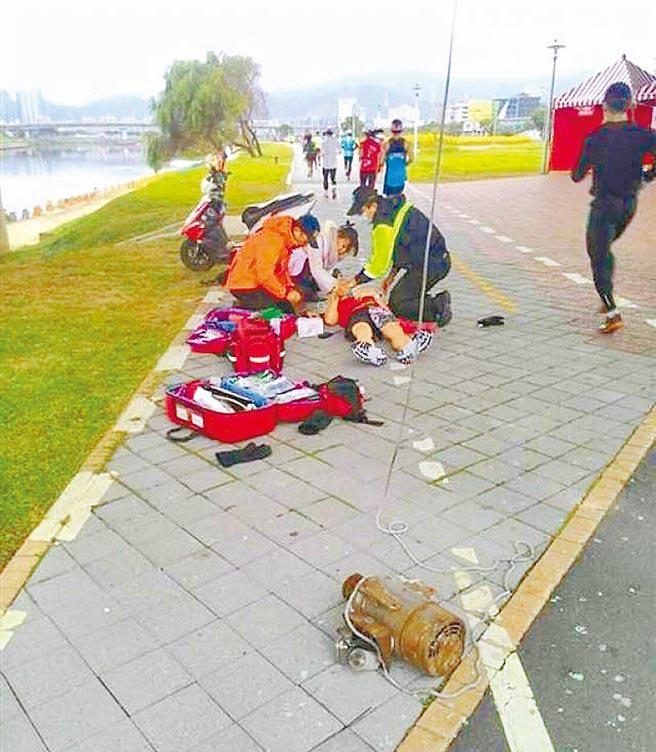 陳姓男子4年前參加台北馬拉松,遭掉落的27公斤抽水馬達砸中頭部,法院判北市新工處賠陳妻10萬元。(本報資料照片)