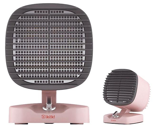 Global Mall線上購物的ikiiki伊崎日系陶瓷電暖器,原價2290元,31日前享優惠價1782元。(Global Mall提供)