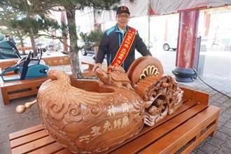 獨》神岡巧聖先師廟1/6安座 巨型土木工具霸氣亮相