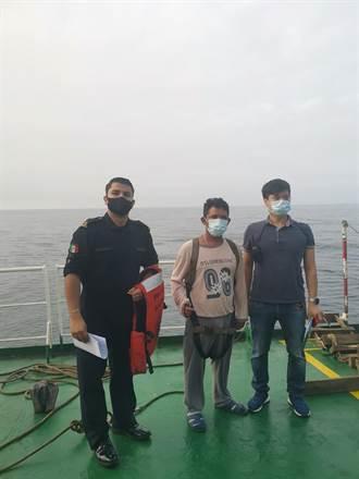 台灣航業「臺誠輪」援救墨西哥籍落海漁民