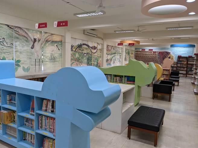 蕭壠兒童圖書館整修完成,軟硬體到位,本周六將重新開館。(莊曜聰攝)