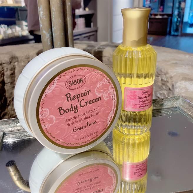SABON推出全新「保濕光萃油」與「身體保濕潤膚霜」。(邱映慈攝)