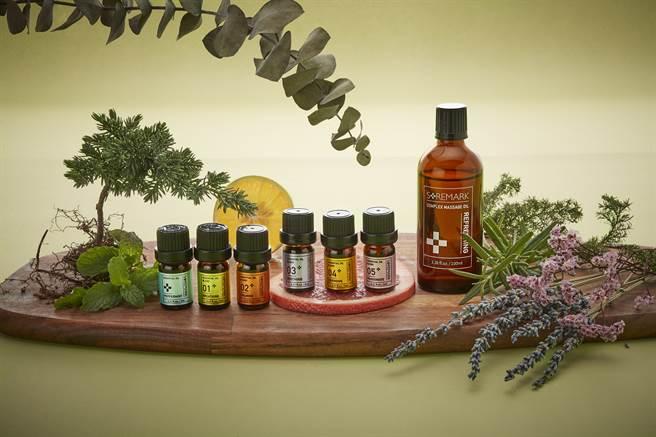 東森自然美瑞昇推出經典植物按摩油,可搭配精油使用,在滋潤身體肌膚的同時療癒身心。(邱映慈攝)