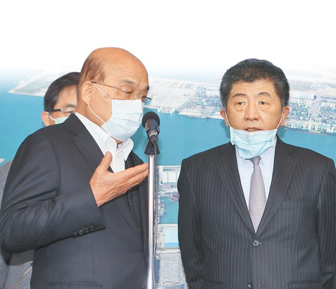 行政院長蘇貞昌(左)、衛福部長陳時中(右)。(圖/本報系資料照)