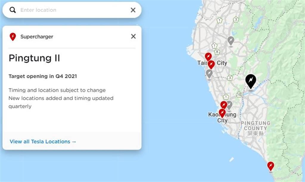特斯拉更新超充網路地圖,即將上線的超充佔地點、預計啟用時間一目了然