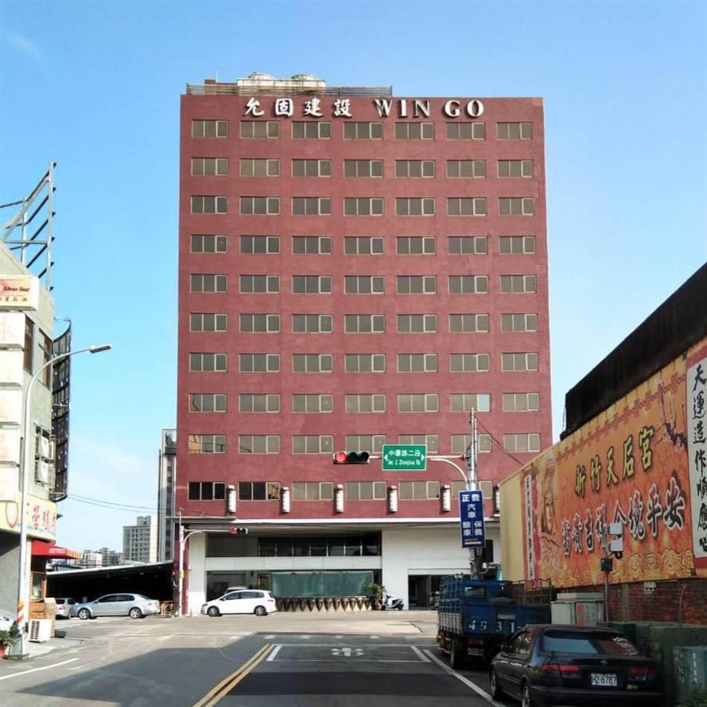 台積電承租的12層大樓員工宿舍,共300間房,採飯店式管理,讓員工下班後享受度假感覺。(戴志揚翻攝)