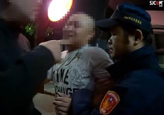 醉男酒後滋事 遭「大外割」壓制逮捕
