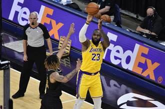 NBA》詹皇一眉哥接管戰局 湖人逆襲灰熊奪4連勝