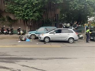 婦人騎車巷內竄出自摔 滑入自小客車底遭輾爆頭