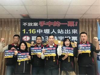 國民黨黃國園黨部動員 呼籲民眾罷王投票