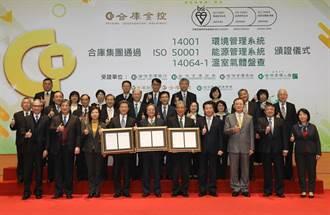 合庫金ESG再傳捷報 旗下7家子公司全數拿到BSI國際標準認證