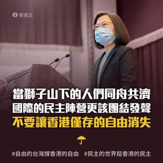 港警大規模拘捕民主派 蔡英文:北京當局徹底毀棄承諾