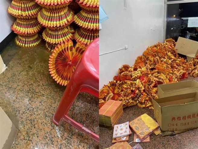 一名女網友控訴房東不願意修理租屋處的馬桶,導致馬桶噴出骯髒的「屎水」,地板的大量紙蓮花泡爛、塌陷。(圖/臉書「爆怨公社」)