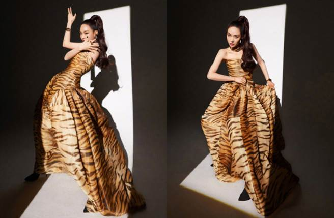 miss A前成員王霏霏穿上平口長裙突顯她獨到的時尚品味。(圖/摘自微博@王霏霏Fei)
