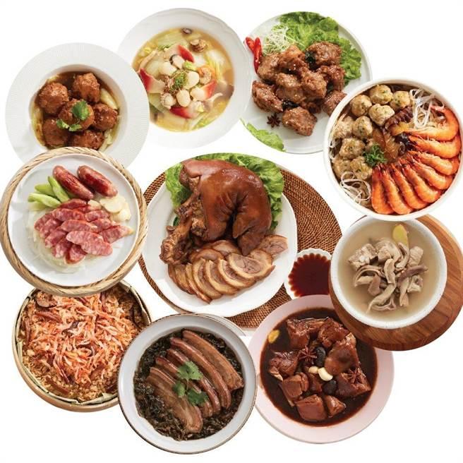 樂天市場推薦銷量亞軍年菜,台畜 TAIWAN HAM十全十美年菜組,原價3705元,特價2688元。(樂天市場提供)
