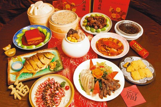 連續三年獲米其林必比登推介的「點水樓」今年推出逾25項五星年菜料理,全力搶攻年菜外賣市場。圖/業者提供