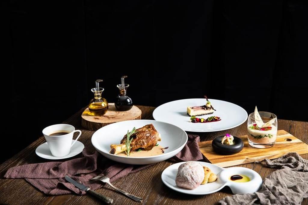 年節將屆、餐飲市場需求增加,北投老爺酒店PURE法式餐廳推出全新法式套餐。圖/北投老爺酒店