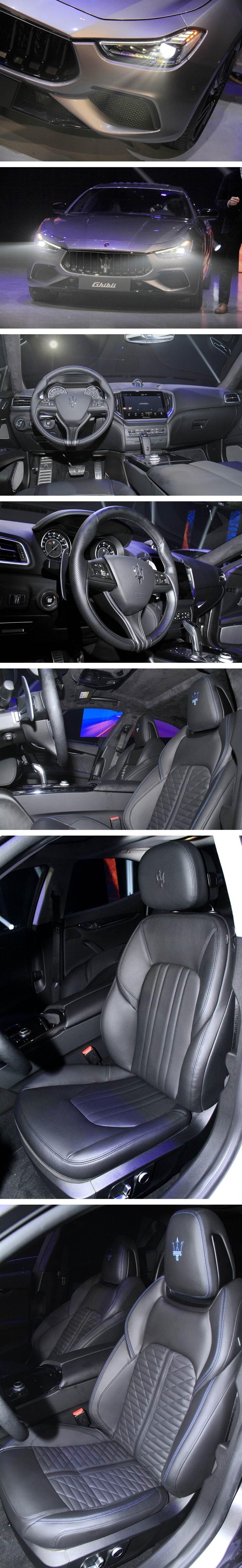 這次發表的Ghibli MHEV GranSport特別選配(包含座椅加熱與通風功能,需加價39萬)來自Levante Trofeo同款的Pieno Fiore天然皮革內裝。