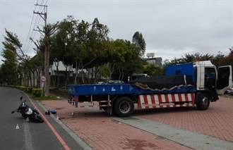 中市仁堤公園前 機車撞左轉貨車釀一死一傷