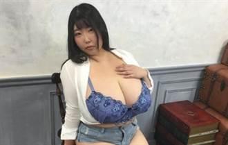 全球最大罩杯 M級櫻花妹胸比臉巨快撐爆上衣
