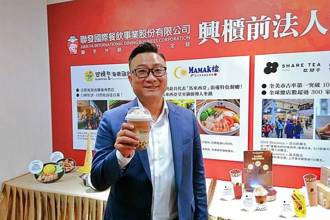 連鎖餐飲集團聯發國際7日登錄興櫃交易,圖為董事長鄭凱隆。(記者林資傑攝)