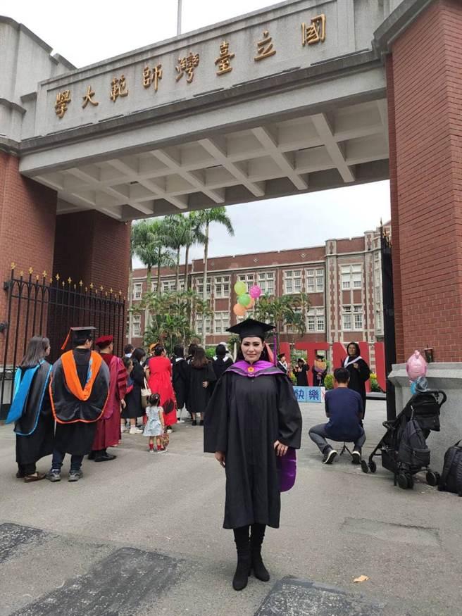 潘越雲去年從師大畢業。(圖/FB@潘越雲)