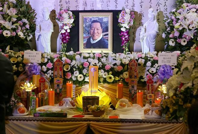 資深製片張華坤告別式7日舉行。(粘耿豪攝)