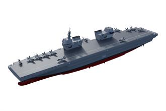 韓國提出輕航空母艦概念圖 採雙艦島設計