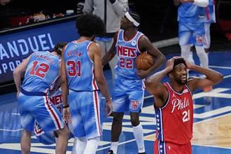 NBA》無須雙星助陣 籃網爆冷終結七六人5連勝