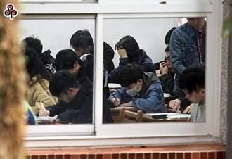 大學術科考生戴口罩應試 因疫情不開放陪考