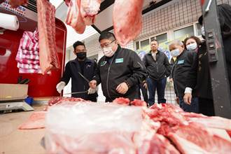 台灣豬好吃!蔡易餘揪會計師公會 贈老人食堂1600斤新鮮豬肉