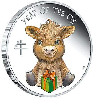 臺銀Baby牛彩色精鑄銀幣 萌樣上市
