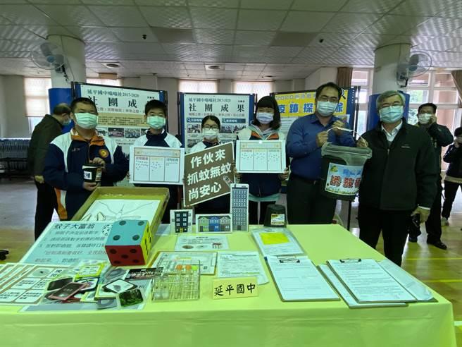 延平國中2017年率先打頭陣,成立全台第一個公共衛教走入校園的科學防疫社團。(曹婷婷攝)